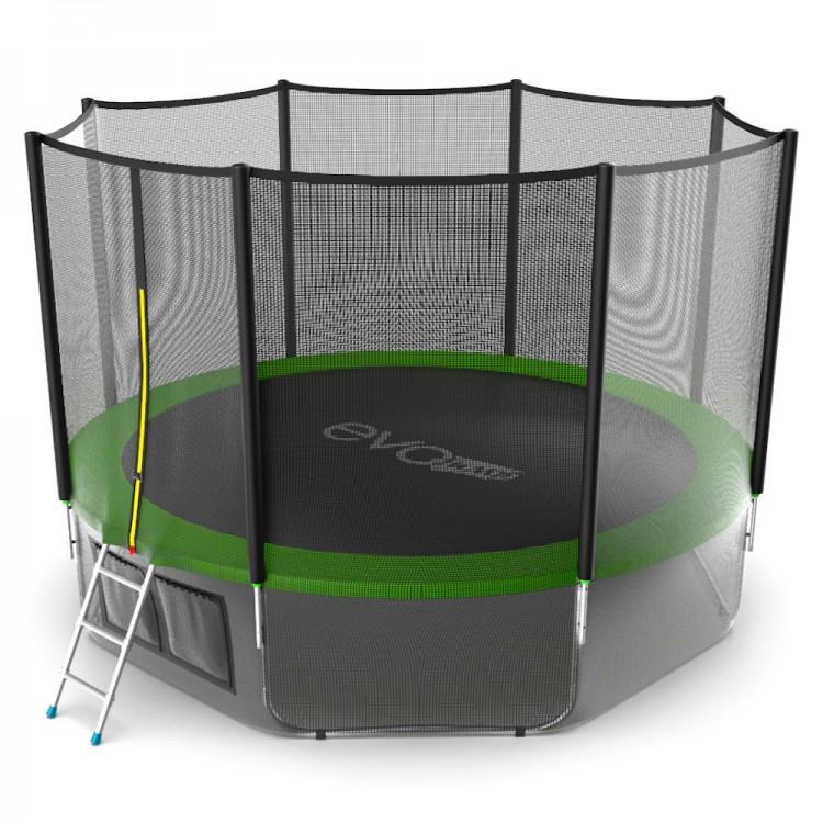 Купить evo jump external 12ft (green) + lower net. батут с внешней сеткой и лестницей, диаметр 12ft (зеленый) + нижняя сеть по цене 31 790 руб. в интернет магазине SPORTSERIES.RU